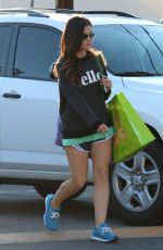 LUCY HALE Out Shopping in Studio City 0109