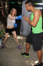 MAITLAND WARD at a Workingout Photoshoot in West Hollywood
