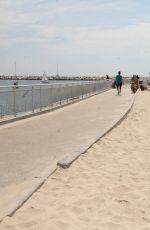 MAITLAND WARD in Bbikini at Marina Del Rey Beach