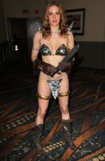 MAITLAND WARD in Red Sonja Costume in Long Beach