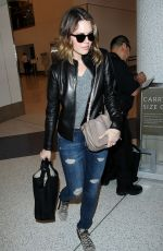 MANDY MOORE Arrives at Los Angeles International Airport