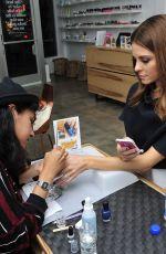 MARIA MENOUNOS at Manicure at Enamel Diction in Los Angeles