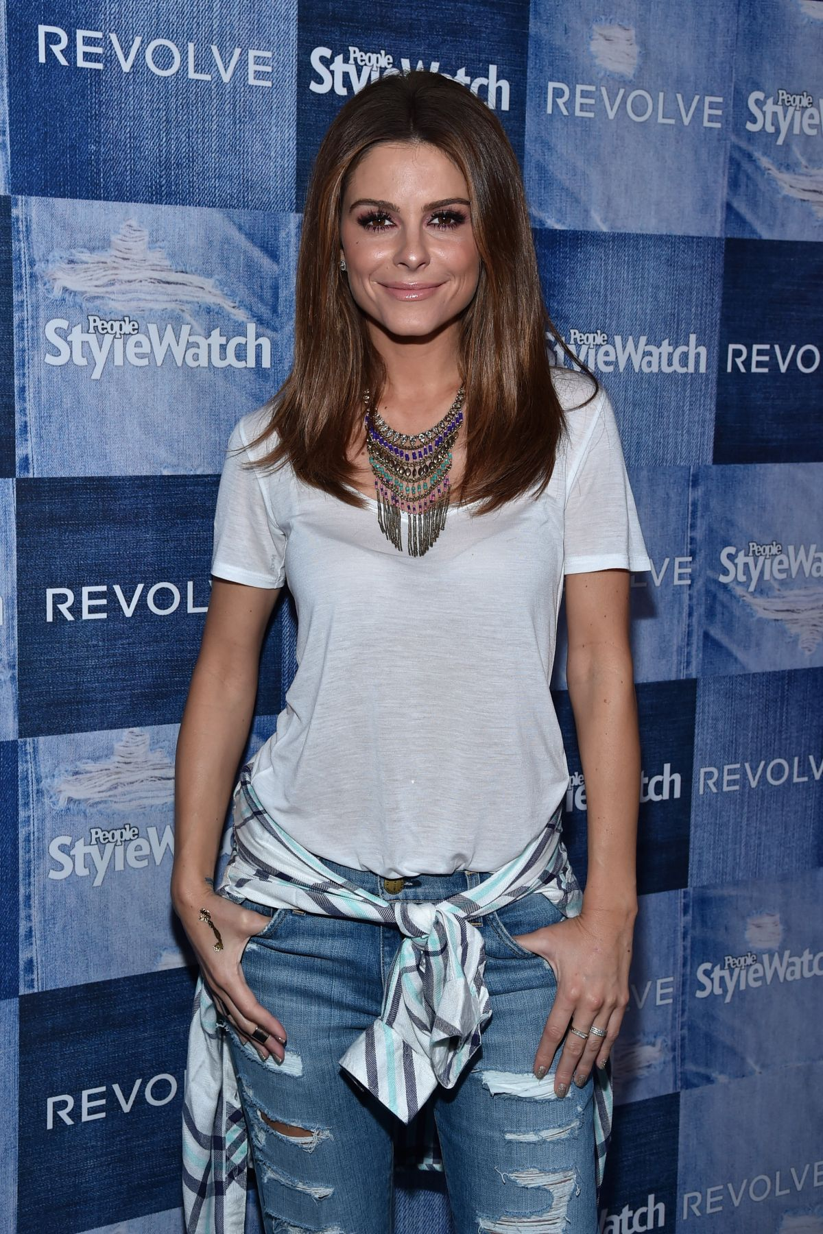 MARIA MENOUNOS at People Stylewatch Denim Party in Los Angele