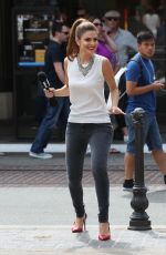 MARIA MENOUNOS on the Set of Extra at the Grove in West Hollywood 0809