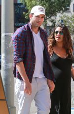 MILA KUNIS and Ashton Kutcher Out and About in Los Angeles
