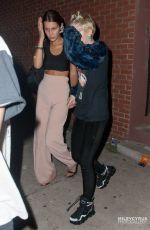 MILEY CYRUS and BELLA HADID Leaves Alexander Wang's After Party in NEw York
