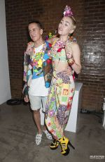 MILEY CYRUS at Jeremy Scott Dirty Hippie Fashion Show in New York