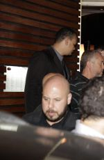 MILEY CYRUS Leaves a Sushi Restaurant in Rio De Janeiro