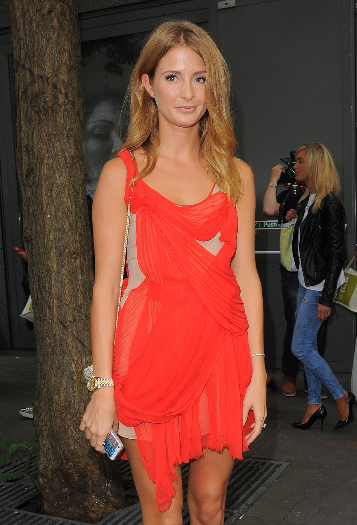 MILLIE MACKINTOSH at Julien Macdonald Fashion Show in London