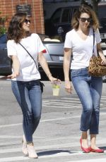 MINKA KELLY and MANDY MOORE Out and About in Los Angeles