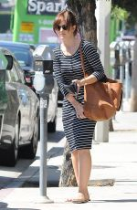 MINKA KELLY in Dress Out and About in Los Angeles
