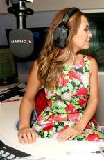 MYLEENE KLASS at Classic FM Radio Studios in London