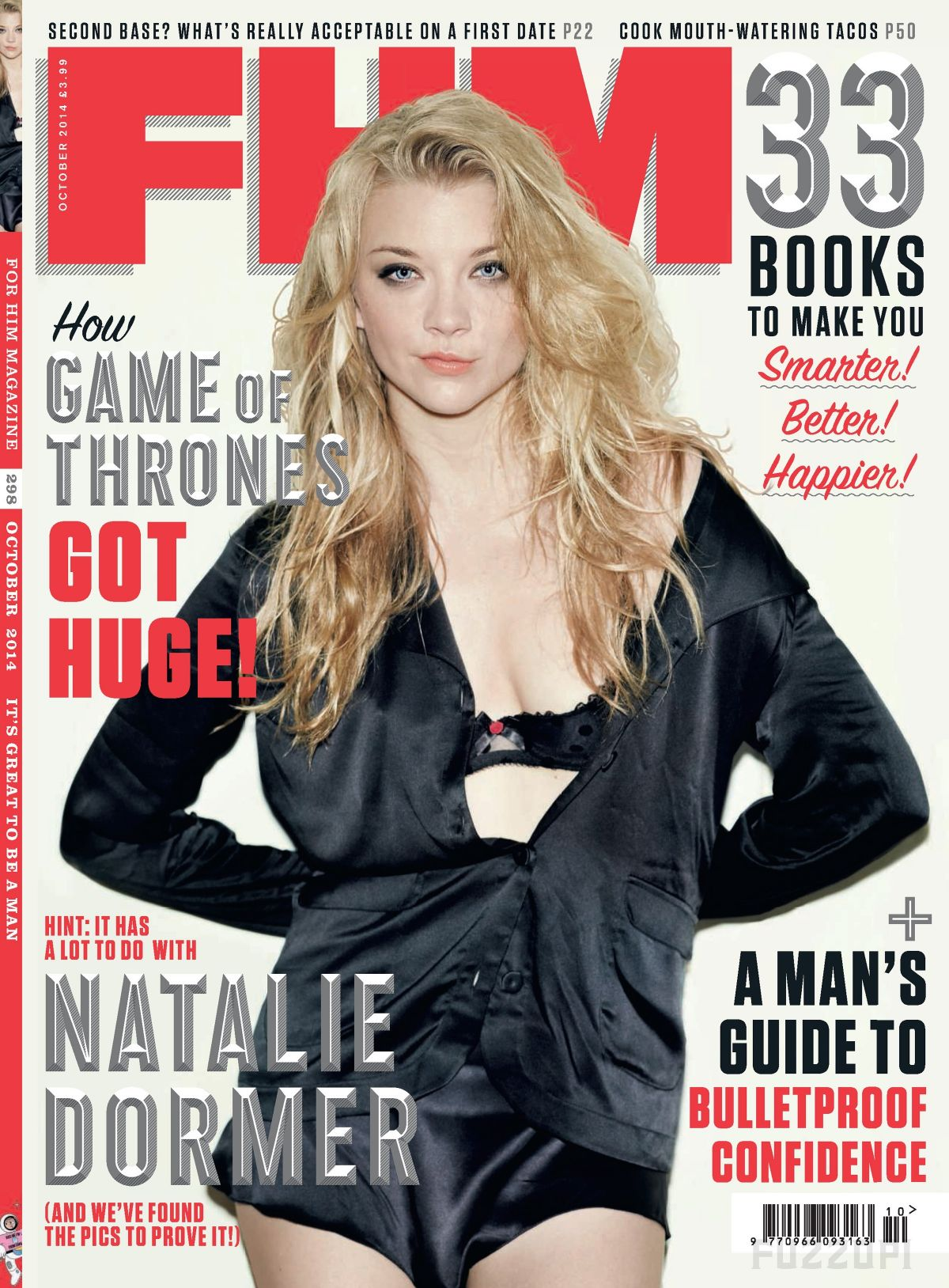 NATALIE DORMER in FHM Magazine, October 2014 Issue