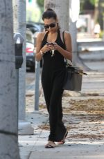 NAYA RIVERA in Black Dress Out and About in Beverly Hills
