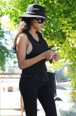 NAYA RIVERA Leaves a Laser Hair Removal Center in Studio City