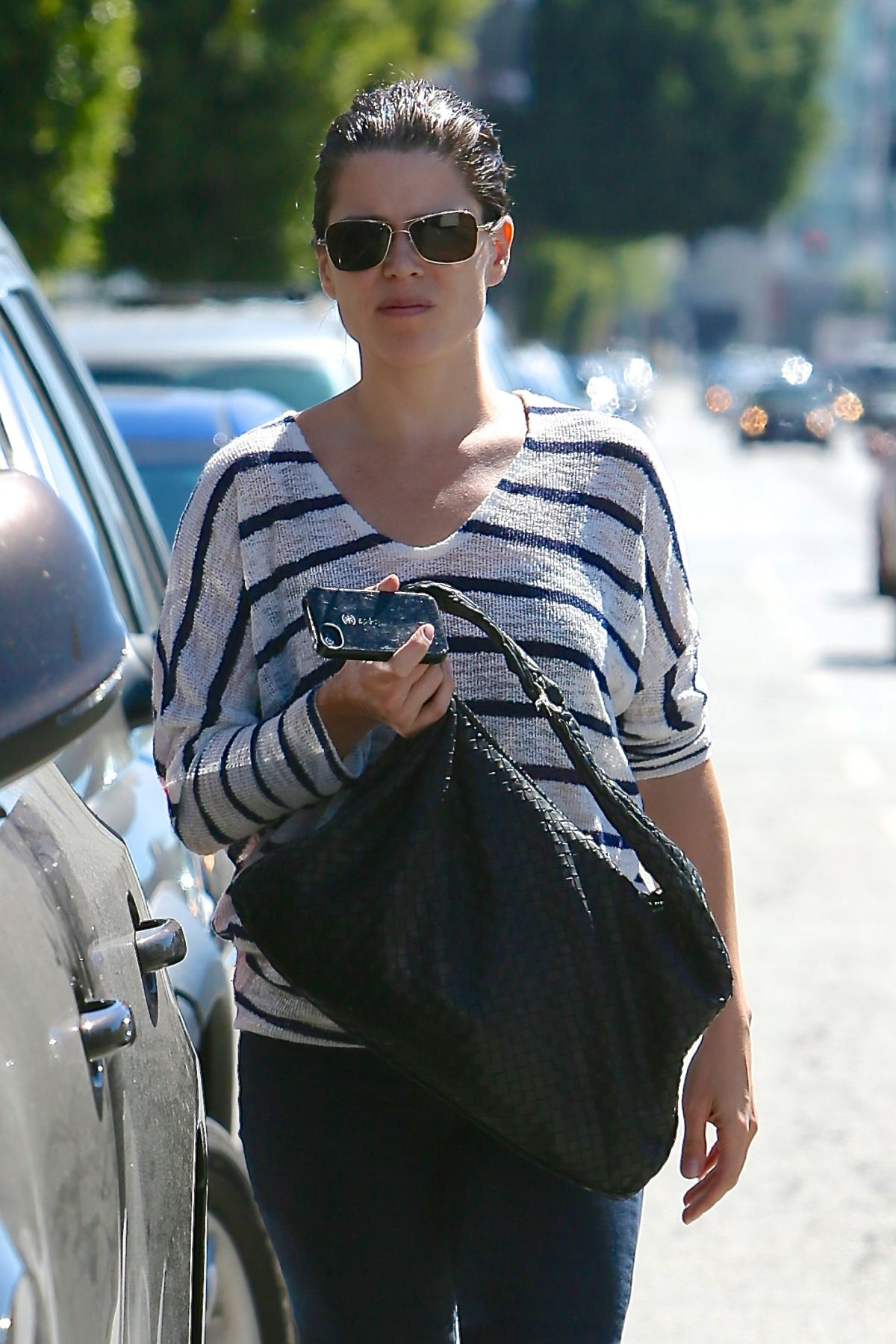NEVE CAMPBELL Leaves Twist Cafe in Los Angeles