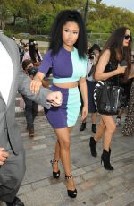 NICKI MINAJ Out at New York Fashion Week