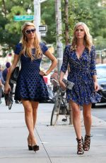 NICKY and PARIS HILTON Out and About in Soho