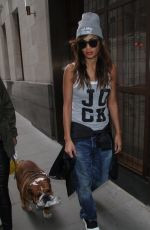 NICOLE SCHERZINGER Arrives at Her Hotel in London