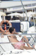 NICOLE SCHERZINGER in Bikini at a Yacht in Ibiza