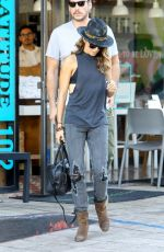 NIKKI REED in Ripped Jeans Out in Los Angeles