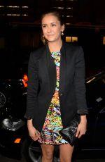 NINA DOBREV at Versus Versace Fashion Show in New York