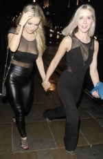 OLA JORDAN Arrives at Werewold Club in Piccadilly Circus