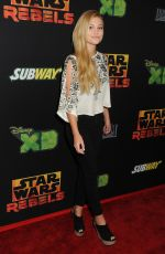 OLIVIA HOLT at Star Wars Rebels Premiere in Century City