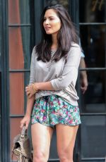 OLIVIA MUNN at Moet & Chandon Suite at US Open in New York