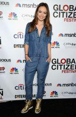 OLIVIA WILDE at Global Citizen Festival in New York