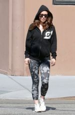OLIVIA WILDE Heading to a Gym in New York