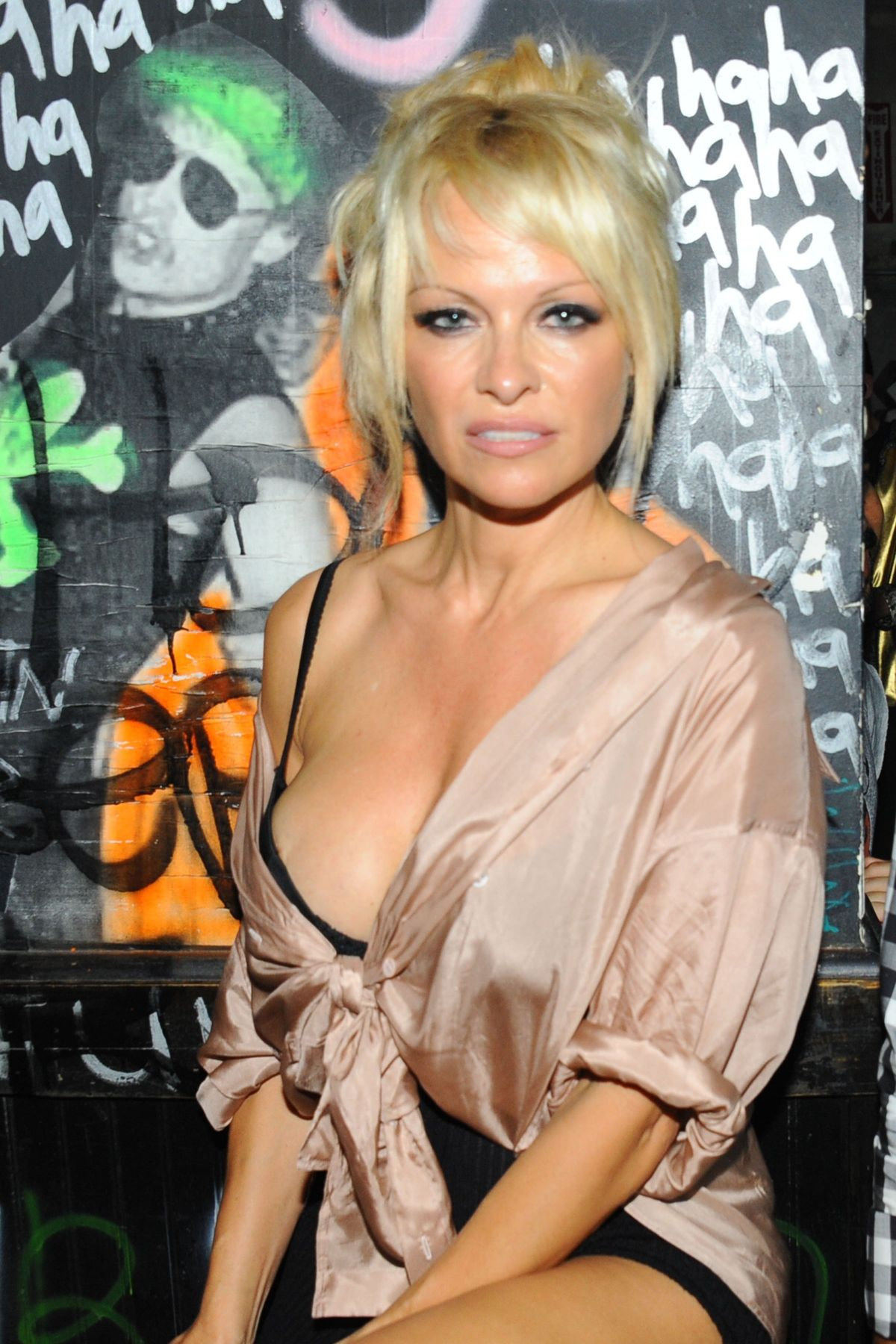 PAMELA ANDERSON at Interview Magazine Celebrates Photographer