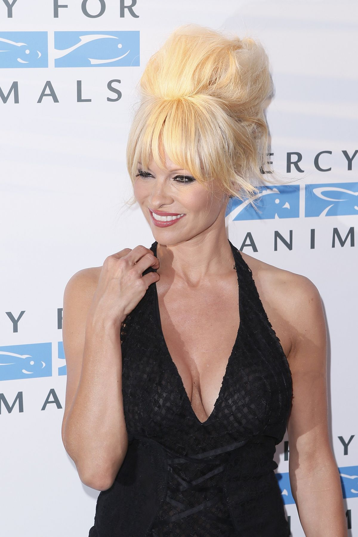 PAMELA ANDERSON at Mercy for Animals 15th Anniversary Gala in West Hollywood