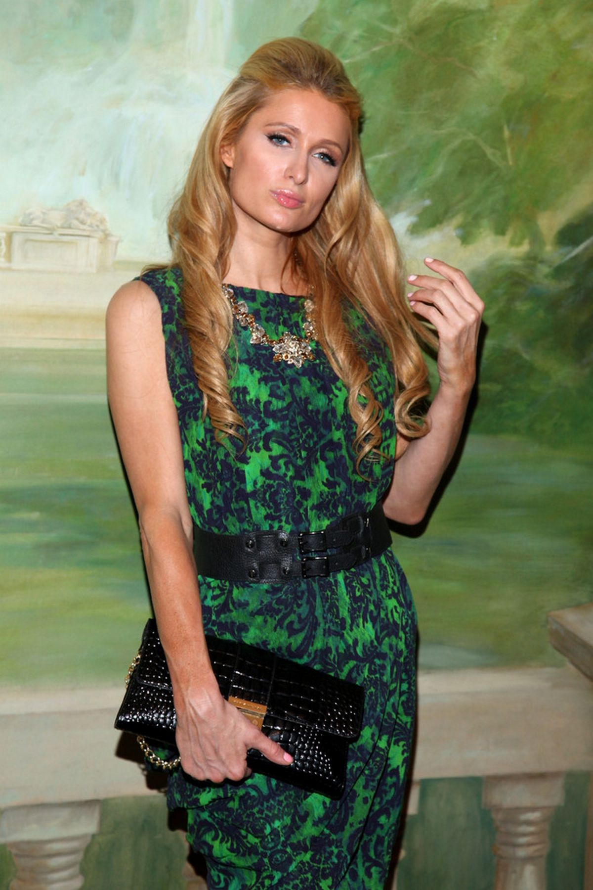 PARIS HILTON at Alice+Olivia by Stacey Bendet Fashion Show in New York