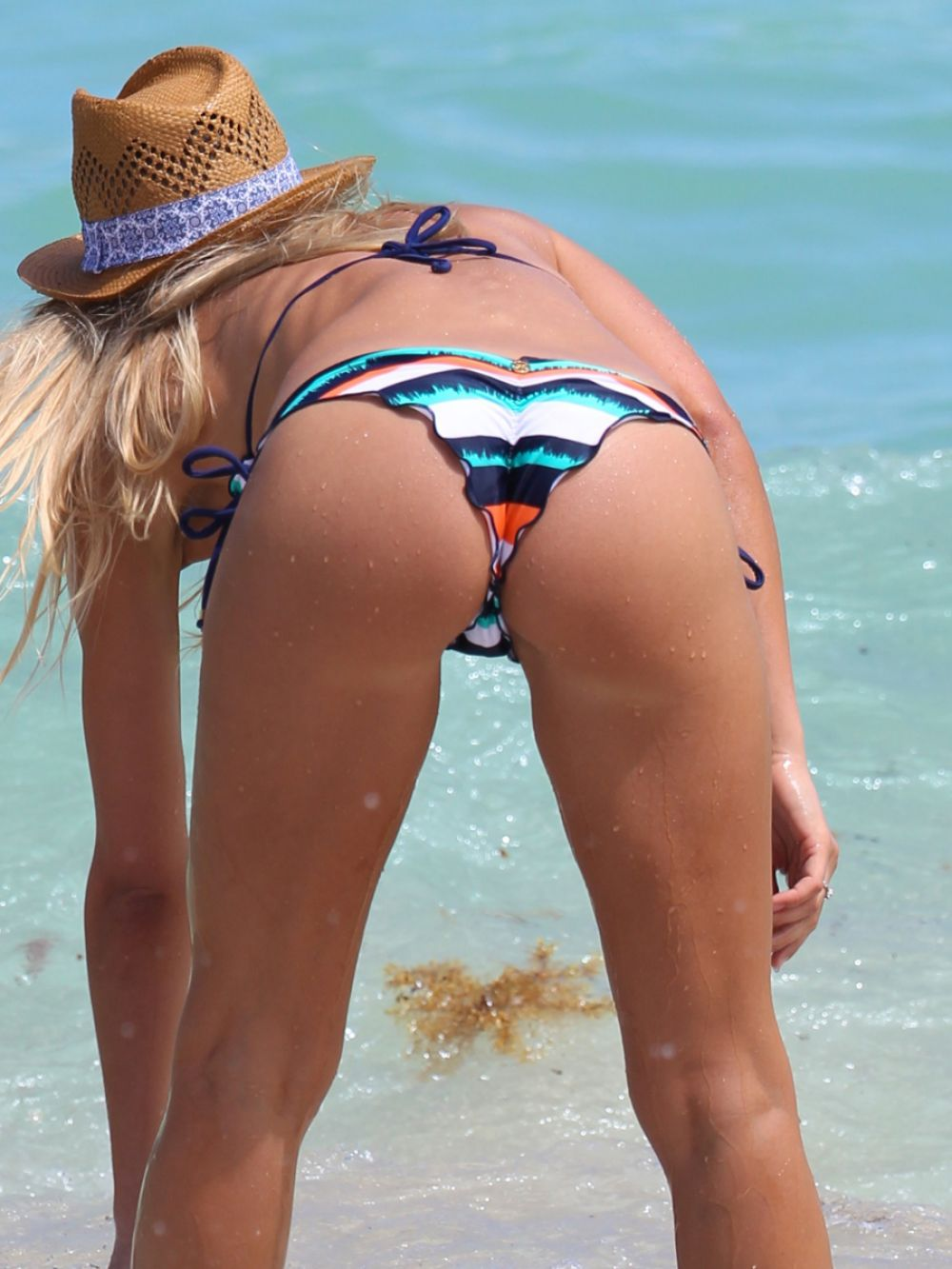 PETRA BENOVA in Bikini at a Beach in Miami