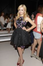 PEYTON LIST at Mara Hoffman Fashion Show in New York