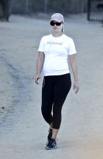 Pregnant ALI LARTER in Tights Out Hiking at Runyun Canyon 2909