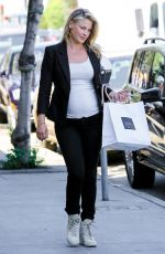Pregnant ALI LARTER Out and About in West Hollywood