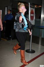 Pregnant HAYDEN PANETTIERE at LAX Airport