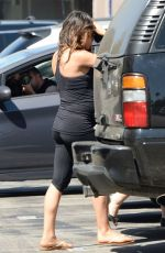 Pregnant MILA KUNIS in Tights Out and About in Los Angeles 0509