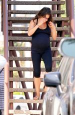 Pregnant MILLA KUNIS Leaves a Gym in Los Angeles