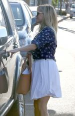 REESE WITHERSPOON in White Skirt Out and About in West Hollywood