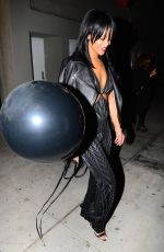RIHANNA Arrives at a Birthday Party in New York