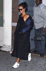 RIHANNA Arrives at a Recording Studio in New York 2309