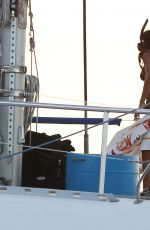 RIHANNA in Bikini at a Yacht in Barbados