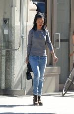 RIHANNA in Jeans Out in Soho 2709