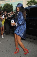 RIHANNA Out at New York Fashion Week