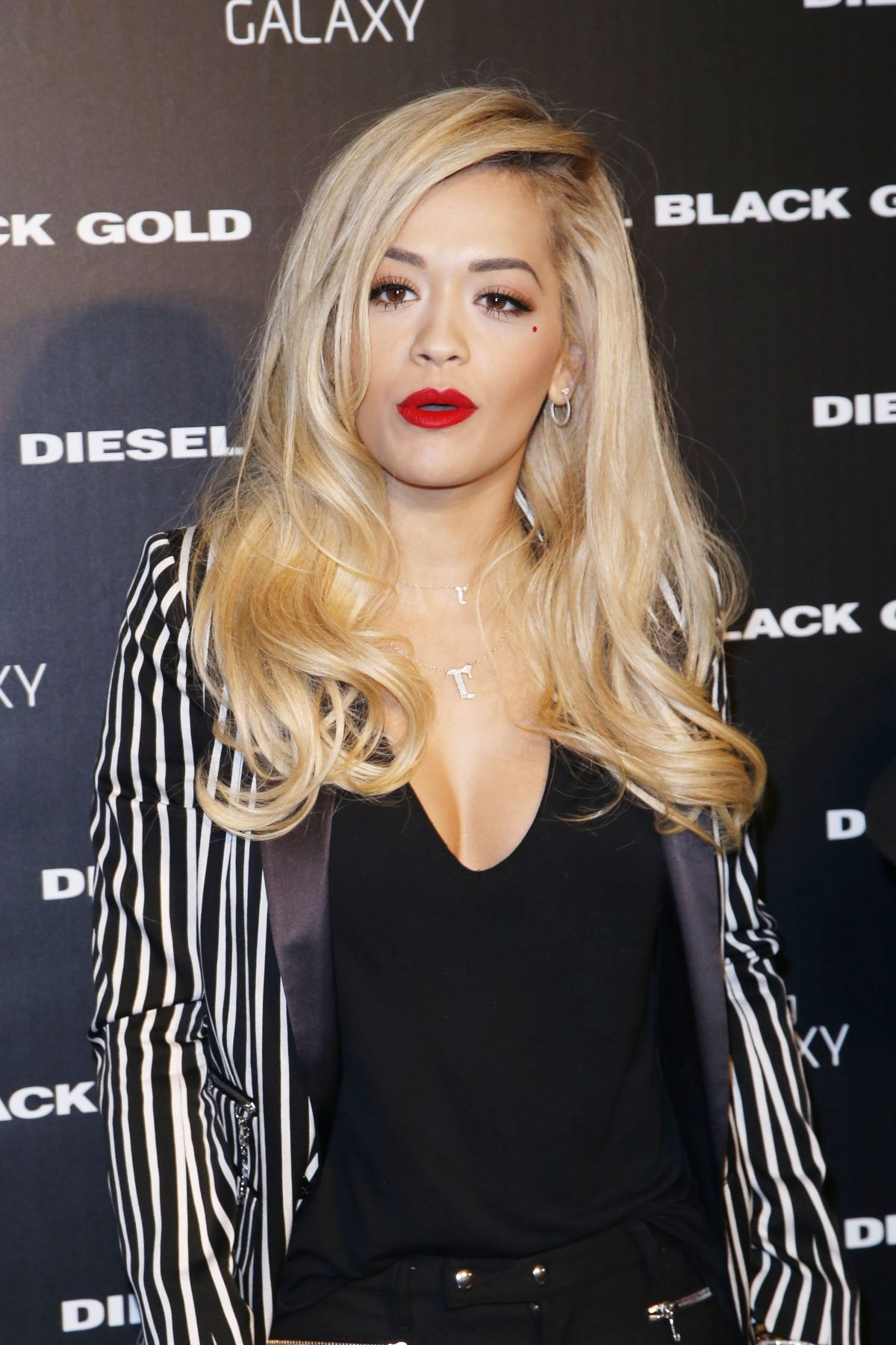 RITA ORA at Diesel Black Gold Fashion Show in New York