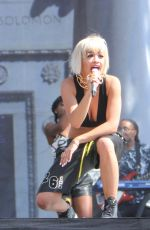 RITA ORA Performs at Budweiser Made in America Music Festival in Los Angeles