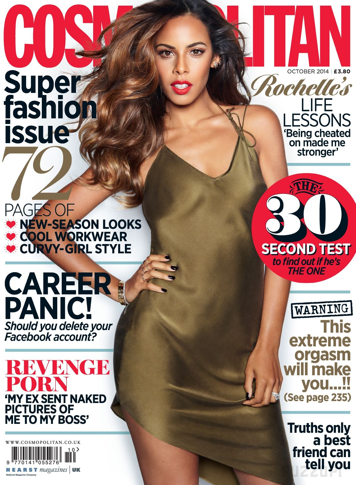 ROCHELLE HUMES in Cosmopolitan Magazine, October 2014 Issue